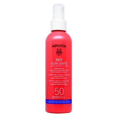 Apivita Bee Sun Safe Ενυδατικό Spray Ελαφριάς Υφής για Πρόσωπο & Σώμα SPF50 200 ml