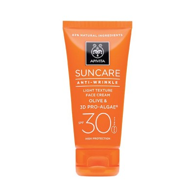 Apivita Suncare Anti-Wrinkle Face Cream Olive & 3D Pro-Algae SPF30 50ml