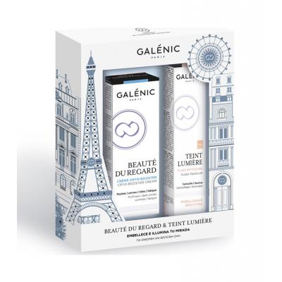 Galenic Beaute du Regard Creme Cryo-Booster Κρέμα Ματιών Πολλαπλής Δράσης 15ml & ΔΩΡΟ Teint Lumiere Flash Touch-Up Πινέλο για Μαύρους Κύκλους & τα Σημάδια της Κούρασης 2ml