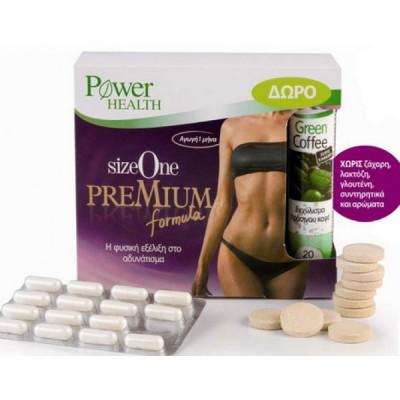 POWER HEALTH SIZE ONE PREMIUM FORMULA 60CAPS & ΔΩΡΟ GREEN COFFEE 20CAPS