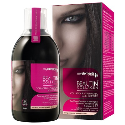 MY ELEMENTS BEAUTIN COLLAGEN Φράουλα-Βανίλια 500ML