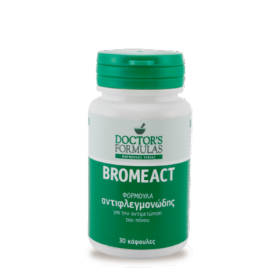 Doctor's Formulas Bromeact Φόρμουλα Αντιφλεγμονώδης 30 κάψουλες
