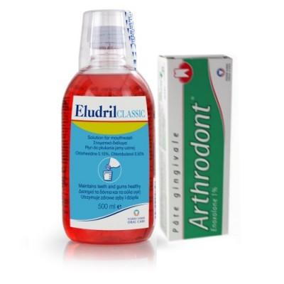 ELUDRIL MOUTHWASH 500ML+ ARTHRODONT T/P 40GR