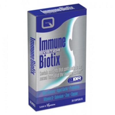 QUEST IMMUNE BIOTIX with beta glucans, garlic, probiotics, D, zinc, selenium & copper 30CAPS