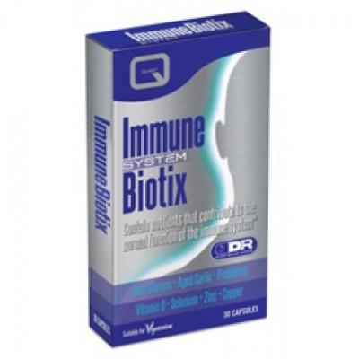 QUEST IMMUNE BIOTIX with beta glucans, garlic, probiotics, D, zinc, selenium & copper 30CAPS