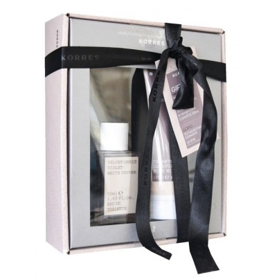 KORRES GIFT ΣΕΤ ME ΑΡΩΜΑ VELVET ORRIS, VIOLET & WHITE PEPPER 50ML & ΔΩΡΟ BODY MILK 125ML