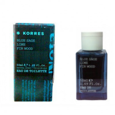KORRES EAU DE TOILETTE BLUE SAGE, LIME,FIR WOOD 50ML