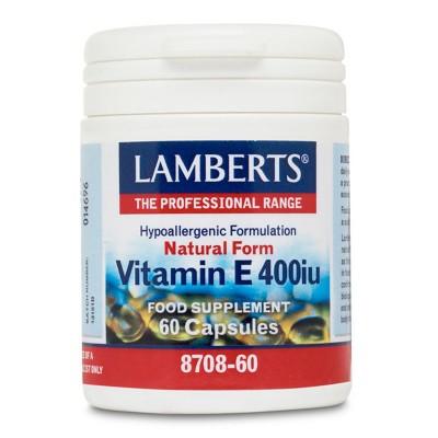 LAMBERTS E 400IU NATURAL 60CAP