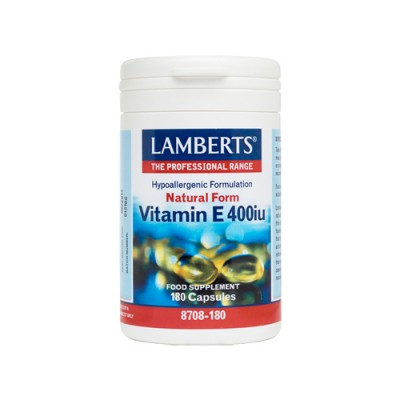 LAMBERTS VITAMIN E 400IU NATURAL 180CAPS