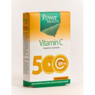 POWER HEALTH VITAMIN C 500MG 36CHEW TABS