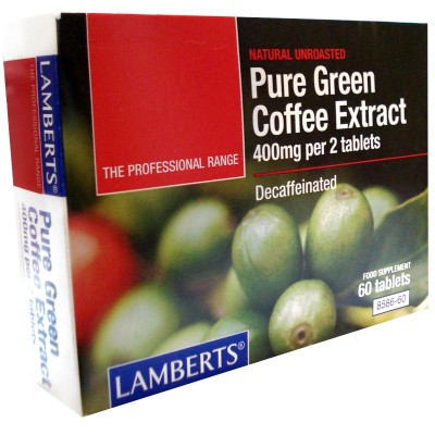 LAMBERTS  PURE GREEN COFFEE Extract decaffeinated 60tabs