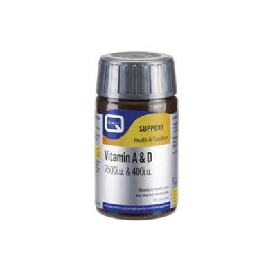 Quest Vitamin A & D3 (7500 I.U. + 400 I.U.) Caps 90s