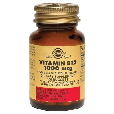 SOLGAR VITAMIN B12 1000MG NUGGETS 100CAPS