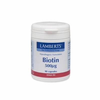 LAMBERTS BIOTIN 500MCG 90CAP