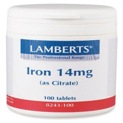LAMBERTS IRON 14MG 100 TABS