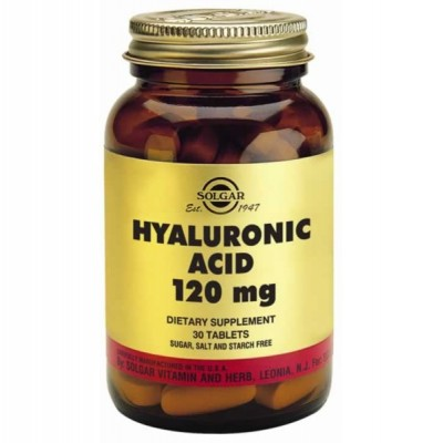 SOLGAR HYALURONIC ACID 120MG 30TABS