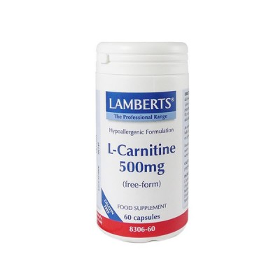 LAMBERTS L CARNITINE 500MG 60CAP