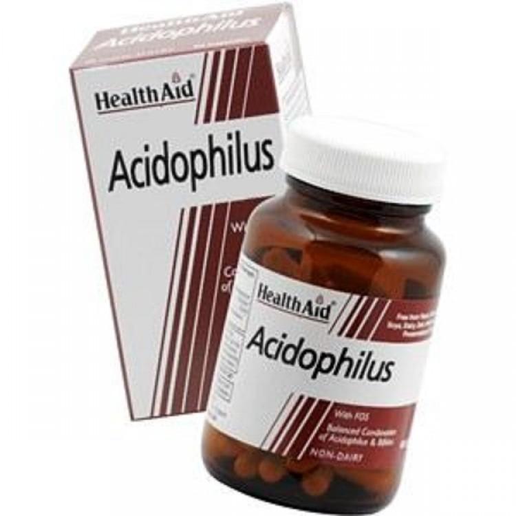 HEALTH AID BALANCED ACIDOPHILUS VEGETARIAN CAPSULES 60S
