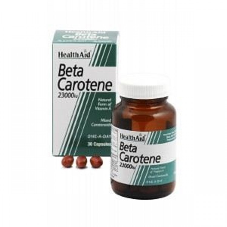 HEALTH AID BETA-CAROTENE NATURAL 15MG CAPSULES 30'S