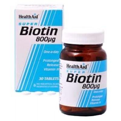 HEALTH AID BIOTIN 800ug TABLETS 30's
