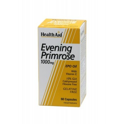 HEALTH AID EVENING PRIMROSE OIL 1000MG + VITAMIN E VEGETARIAN CAPSULES 30'S