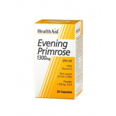 HEALTH AID EVENING PRIMROSE OIL 1300MG 30'S