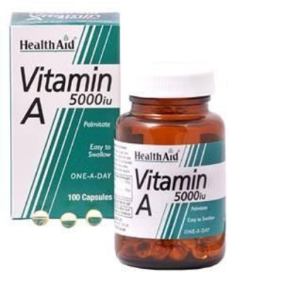 HEALTH AID VITAMIN A 5000IU CAPSULES 100'S