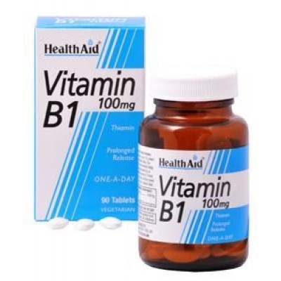HEALTH AID VITAMIN B1 (THIAMIN HCl) 100mg TABLETS 90's