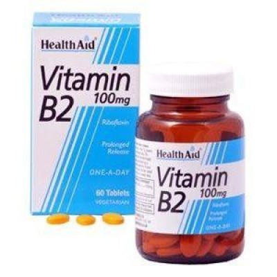 HEALTH AID VITAMIN B2 (RIBOFLAVIN) 100mg TABLETS 60's