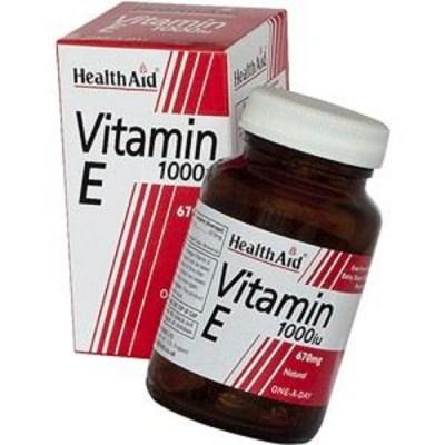 HEALTH AID VITAMIN E 1000IU NATURAL CAPSULES 30'S