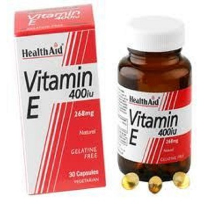 HHEALTH AID VITAMIN E 400IU NATURAL VEGETARIAN CAPSULES 30'S