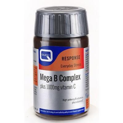Quest Mega B Complex Plus 1000mg C Tabs 30s