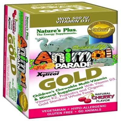 NATURE'S PLUS ANIMAL PARADE GOLD (CHERRY, ORANGE, GRAPE) 60TAB