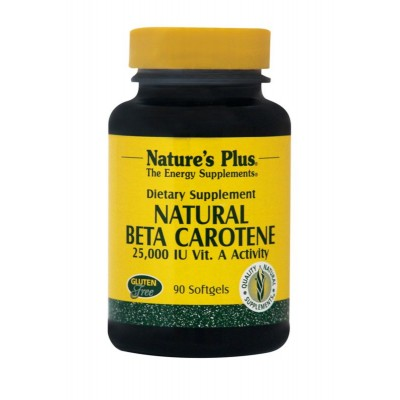 NATURE'S PLUS NATURAL BETA CAROTENE SOFTGELS 90