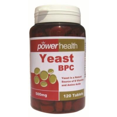 POWER HEALTH YEAST 500MG 120TABS