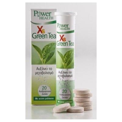 POWER HEALTH XS GREEN TEA 20EFF. TABS