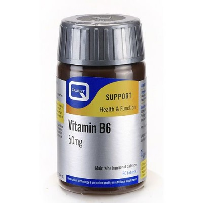 Quest Vitamin B6 50mg Plus Parsley Leaf Extract Tabs 60s