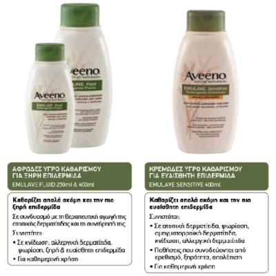AVEENO EMULAVE SENSITIVE WASH 400ML