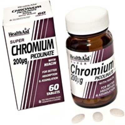 HEALTH AID CHROMIUM PICOLINATE 200ΜG 60'S