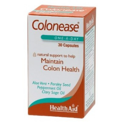 HEALTH AID COLONEASE™ (PEPPERMINT & ALOE VERA PLUS) CAPSULES 30'S