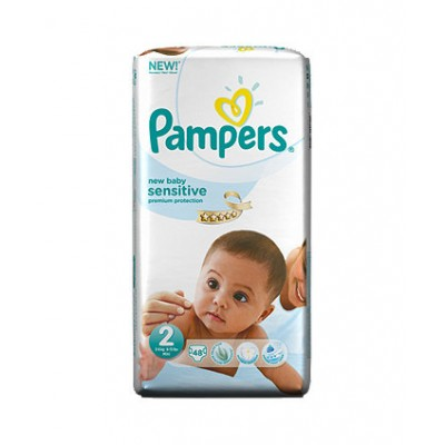 PAMPERS NEW BABY SENSITIVE N2 3-6 KG X 48