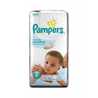 PAMPERS NEW BABY SENSITIVE N2 3-6 KG X 48