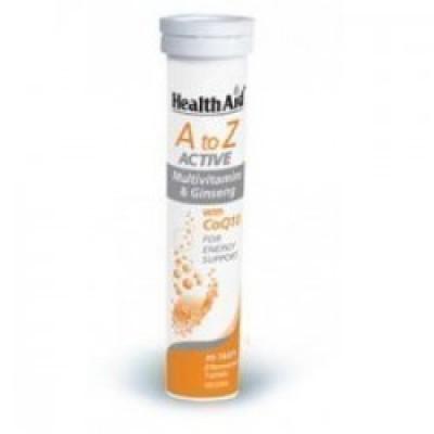 HEALTH AID Α ΤΟ Ζ ΑCTIVE MULTIVITAMINS & Q10 20EFF. TABS