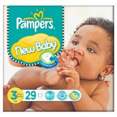 PAMPERS NEW BABY MIDI No 3 (4-9 KG)  29 ΤΕΜ.