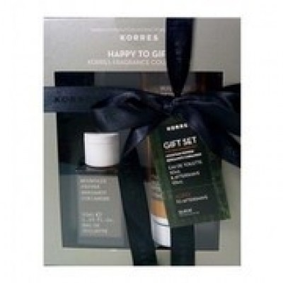 KORRES GIFT SET ME ΑΡΩΜΑ MOUNTAIN PEPPER, BERGAMOT 50ML & CORIANDER & ΔΩΡΟ ΤΟ AFTERSHAVE BALM 125ML