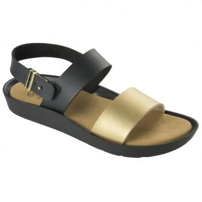 Scholl Mamore Black Gold Παπούτσι Ανατομικό No 38