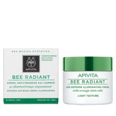 Apivita Bee Radiant Light Cream Αντιγηραντική Κρέμα Προσώπου ελαφριάς υφής, για όλες τις ηλικίες, 50ml