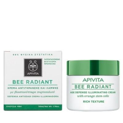Apivita Bee Radiant Rich Cream Αντιγηραντική Κρέμα Προσώπου πλούσιας υφής, για όλες τις ηλικίες, 50ml