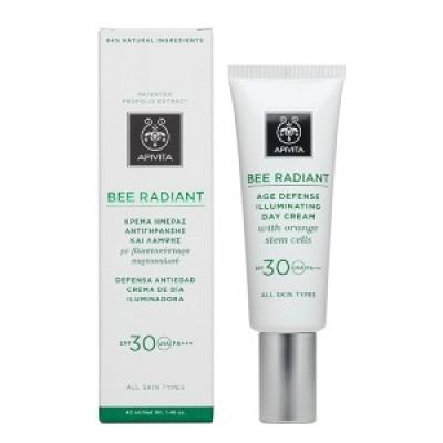 Apivita Bee Radiant Day Cream SPF 30 Κρέμα Ημέρας για όλες τις ηλικίες που έχουν ανάγκη ενυδάτωσης & λάμψης, 40ml