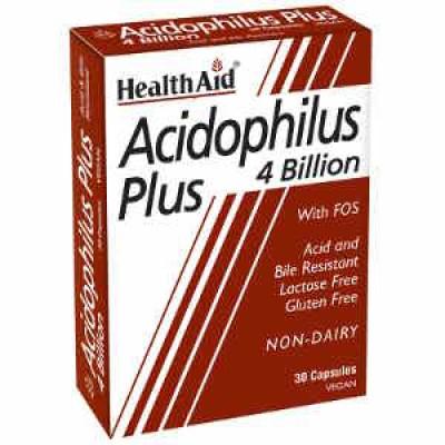 HEALTH AID ACIDOPHILUS PLUS 4 BILLION 30 CAPS